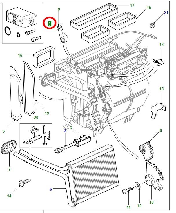 Zawór rozprężny klimatyzacji DEFENDER PUMA OD 2007 JQD500070