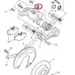 Zacisk hamulcowy lewy tylny DISCOVERY II 2 RANGE ROVER P38