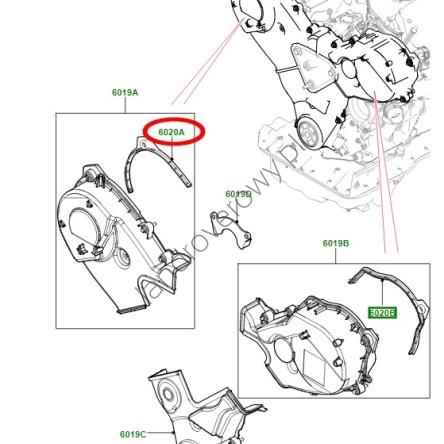 Uszczelka obudowy rozrządu góra prawa JAGUAR S-TYPE XJ
