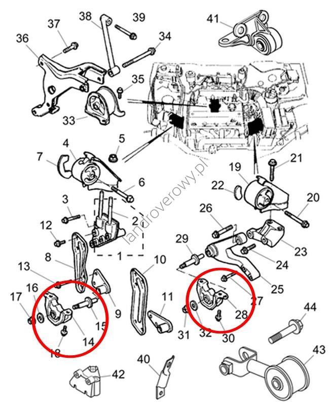 Poduszka silnika ROVER 45 400 414 416 1.4l 1.6l KKB101380