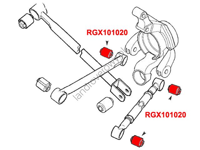 Tuleja wahacza tylnego FREELANDER 1997-2006 RGX101020